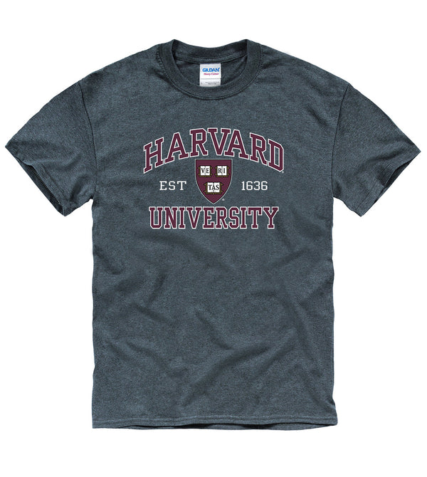 Harvard University Men's T-Shirt-Charcoal-Shop College Wear
