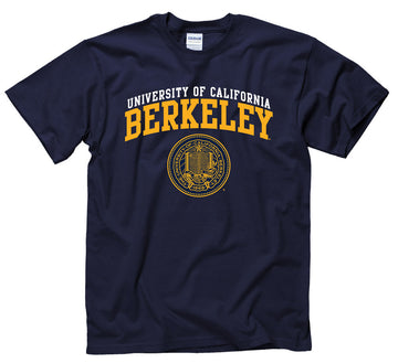 University Of California Berkeley Cal Men's Double Arch T-Shirt- Navy