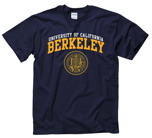 University Of California Berkeley Men's Double Arch T-Shirt- Navy-Shop College Wear