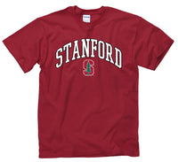 Stanford University Tall Font Men's T-Shirt-Cardinal-Shop College Wear
