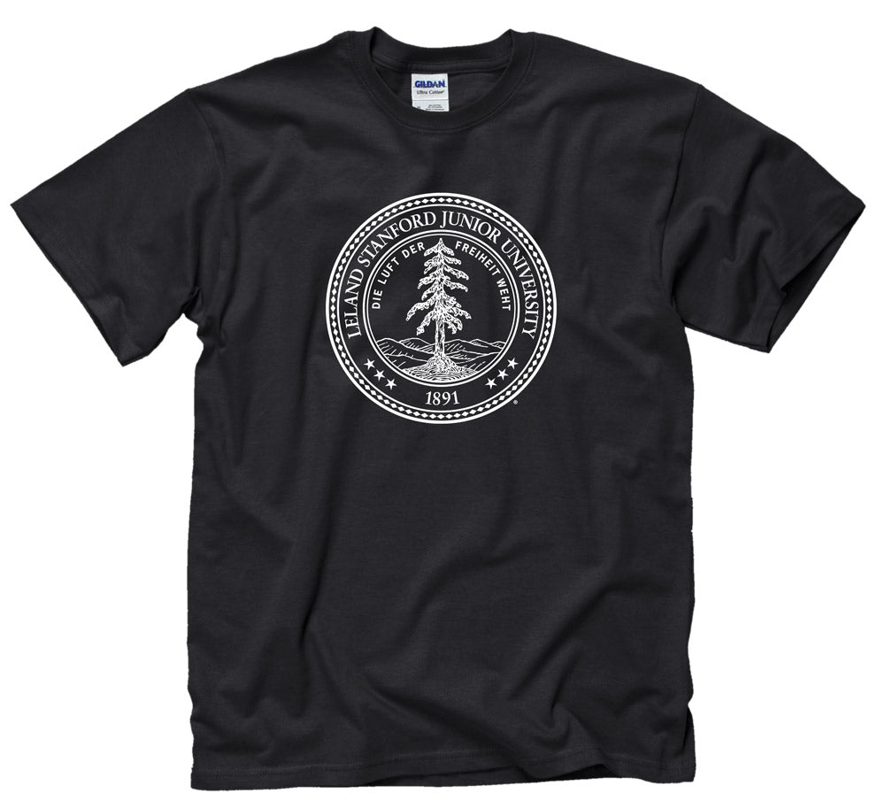 Stanford University Seal Men's T-Shirt - Black-Shop College Wear