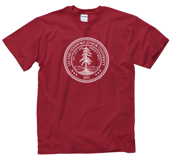 Stanford University Seal Men's T-Shirt-Cardinal-Shop College Wear