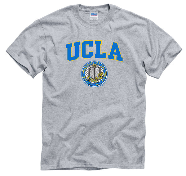UCLA Block & seal Men's T-Shirt-Gray-Shop College Wear