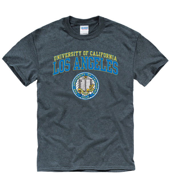 UCLA Bruins Double Arch Men's T-shirt-Charcoal-Shop College Wear