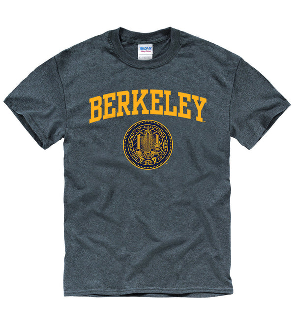 UC Berkeley Men's Short Sleeve T-Shirt -Charcoal-Shop College Wear