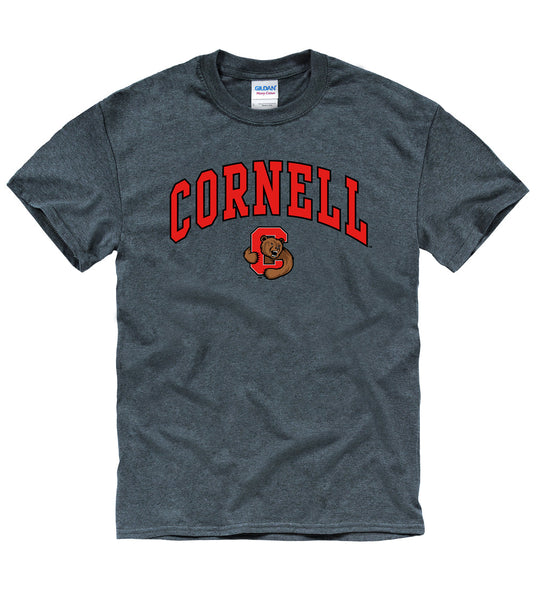 Cornell University Men's T-Shirt-Charcoal-Shop College Wear