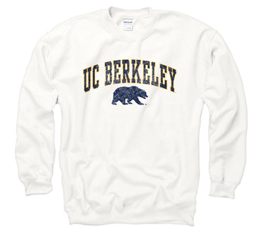 UC Berkeley  Arch & Bear Men's Sweatshirt-White
