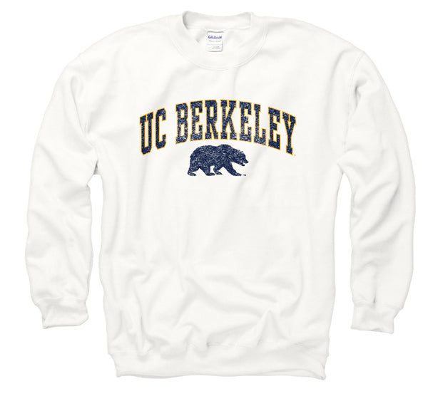 UC Berkeley Arch & Bear Men's Sweatshirt-White-Shop College Wear