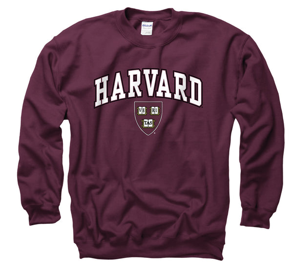 Harvard Crimson Men's Crew-Neck Sweatshirt-Maroon-Shop College Wear