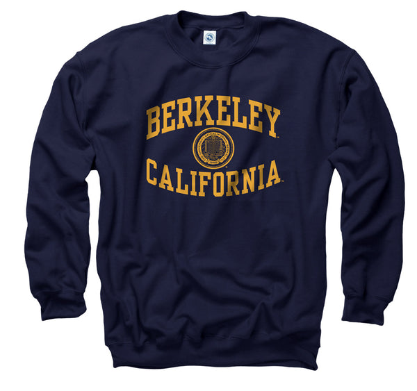 UC Berkeley Reversed Arch Men's Sweatshirt - Navy-Shop College Wear