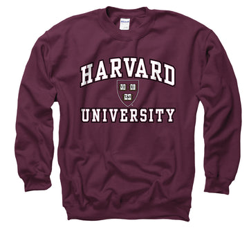 Harvard University Men's Crew Neck-Sweatshirt-Maroon