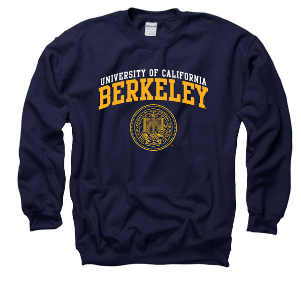 UC Berkeley Double Arch Men's Crewneck Sweatshirt- Navy-Shop College Wear
