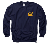 UC Berkeley Cal Left chest Men's Sweatshirt-Navy-Shop College Wear