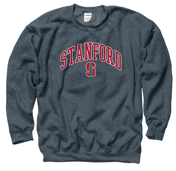 Stanford University Men's Tall Font Men's Sweatshirt-Charcoal