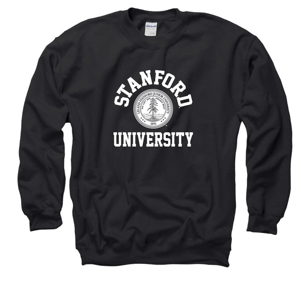 Stanford University Arch & Seal Men's Sweatshirt-Black-Shop College Wear