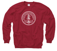 Stanford University Seal Men's Crewneck Sweatshirt-Cardinal-Shop College Wear