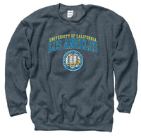 UCLA Double Arch Men's Crew-Neck sweatshirt-Charcoal-Shop College Wear