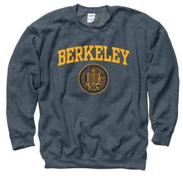 UC Berkeley Arch & Puff seal Men's Sweatshirt-Charcoal