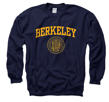 UC Berkeley Arch & Seal  Crewneck Sweatshirt-Navy