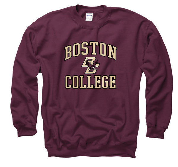 Boston College Eagles Crewneck Men's Sweatshirt- Maroon-Shop College Wear