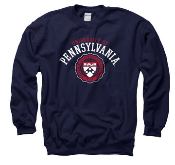 University Of Pennsylvania Men's Crew-Neck Sweatshirt - Navy