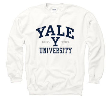 Yale University Men's Sweatshirt-white