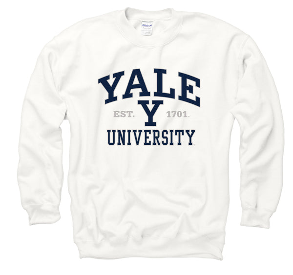 Yale University Bulldogs Men's Sweatshirt-white-Shop College Wear