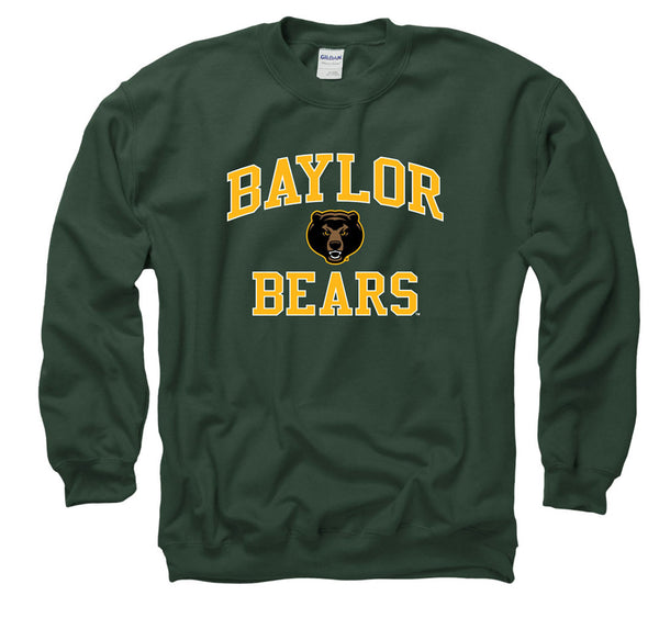 Baylor Bears Men's Crew Neck Sweatshirt- Green-Shop College Wear