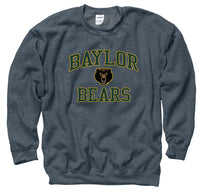 Baylor Bears Men's Crew Neck Sweatshirt-Charcoal-Shop College Wear