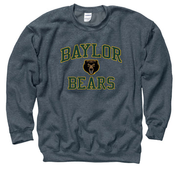 Baylor Bears Men's Crew Neck Sweatshirt-Charcoal
