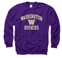 University Of Washington Huskies Crew-Neck Sweatshirt-Purple-Shop College Wear