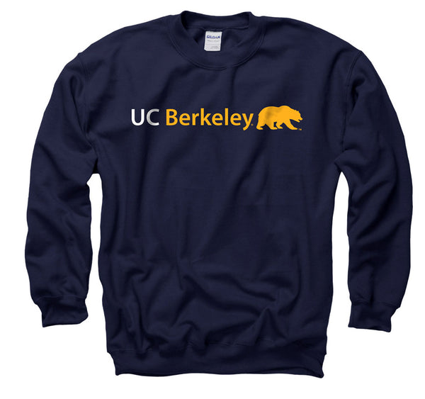 UC Berkeley Cal Men's Crew-neck Sweatshirt - Navy-Shop College Wear
