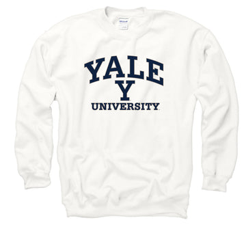 Yale Bulldogs Men's Crew Neck Sweatshirt-White
