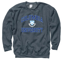 Columbia University Men's Crew Neck Sweatshirt- Charcoal-Shop College Wear