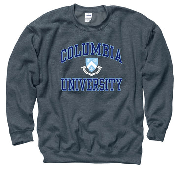 Columbia University Men's Crew Neck Sweatshirt- Charcoal