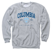 Columbia University Men's Crew Neck Sweatshirt-Gray-Shop College Wear