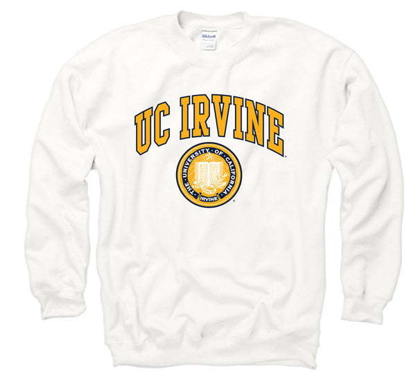 UC Irvine Anteaters Men's Sweatshirt-White-Shop College Wear