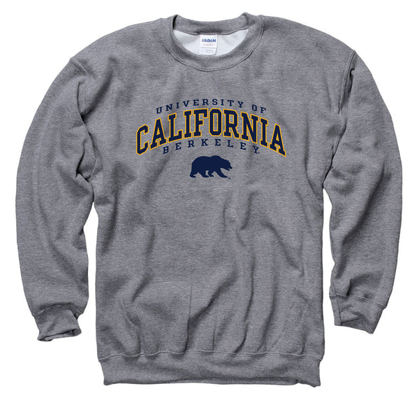 University Of California Berkeley 3 Arch and Bear Sweatshirt-Charcoal-Shop College Wear