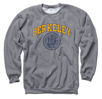 University Of California Berkeley arch and Seal Crew-Neck Sweatshirt-Charcoal-Shop College Wear