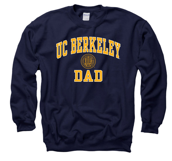 University Of California Berkeley Dad Crew-Neck Sweatshirt-Navy-Shop College Wear