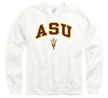 Arizona States University A.S.U. Sun Devils Crew Neck Sweatshirt-White