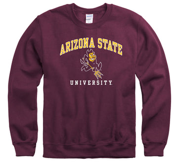 Arizona State University Sun Devils Crew Neck Sweatshirt-Maroon