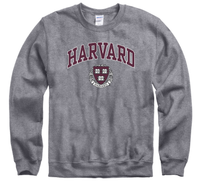 Harvard University Crew-Neck Men's Sweatshirt-Charcoal-Shop College Wear