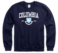 Columbia University Men's Crew-Neck Sweatshirt-Navy