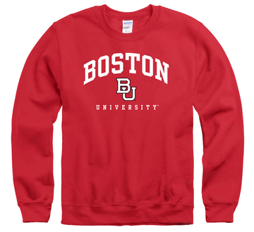 Boston University Terriers Crew Neck Sweatshirt-Red