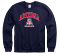 University Of Arizona Wildcats Men's Crew-Neck Sweatshirt-Navy