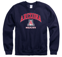 University Of Arizona Wildcats Men's Crew-Neck Sweatshirt-Navy-Shop College Wear