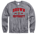 Brown University Men's Crew-Neck Sweatshirt-Charcoal