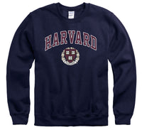 Harvard University Crimson crew-neck sweatshirt-Navy-Shop College Wear