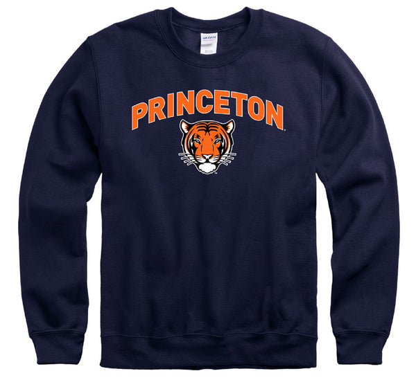 Princeton University Tigers crew-neck sweatshirt-Navy-Shop College Wear